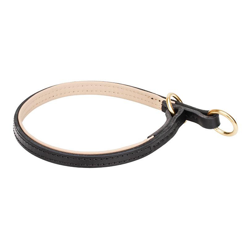 collier l gant en cuir pour dressage et formation de chien pitbull. Black Bedroom Furniture Sets. Home Design Ideas